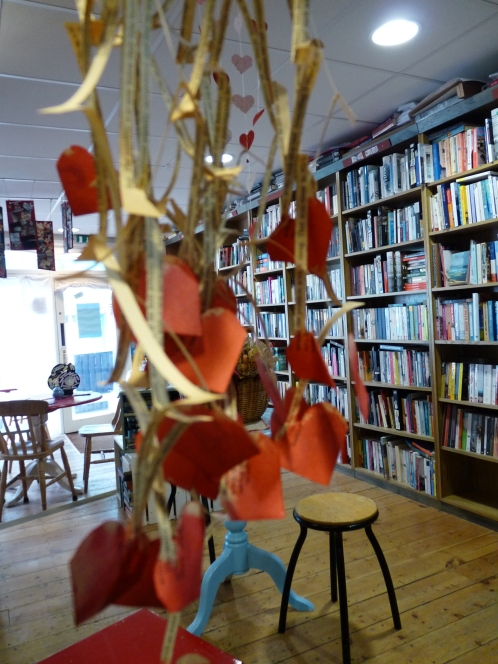 Paper sculptures at the Albion Beatnik Bookstore (albionbeatnik.co.uk)