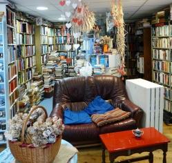 Paper sculptures at the Albion Beatnik Bookstore (albionbeatnik.co.uk)